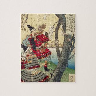 Tsukioka Yoshitoshi - Yoshitsune en Benkei Legpuzzel