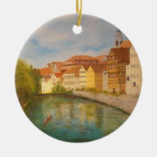 Tübingen in Zonlicht Rond Keramisch Ornament