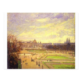 Tuileries tuiniert 2 door Camille Pissarro Briefkaart