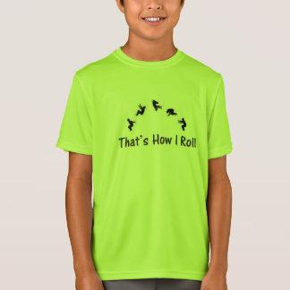 Tuimelende T-shirt van Gymnatics Parkour van het