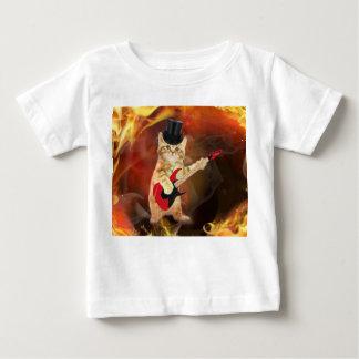 tuimelschakelaar kat in vlammen baby t shirts