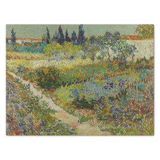 Tuin in Arles door Vincent van Gogh Tissuepapier