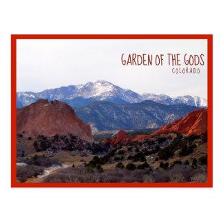Tuin van de Goden (Colorado) met tekst Briefkaart