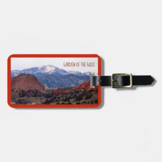 Tuin van de Goden (Colorado) met tekst Kofferlabel