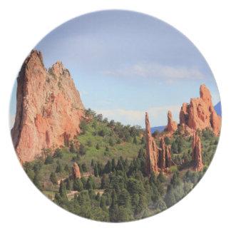 Tuin van het decoratieve bord van Colorado van