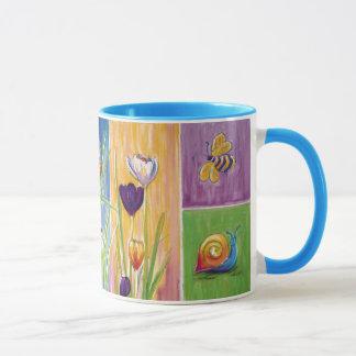 Tuin-vriendschappelijke Bloemenpaneelmok Mok