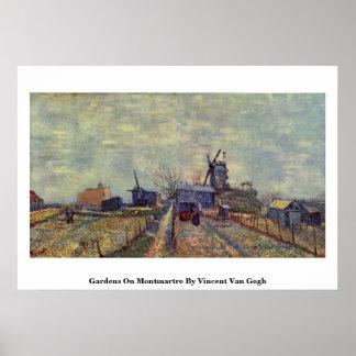 Tuinen op Montmartre door Vincent van Gogh Plaat