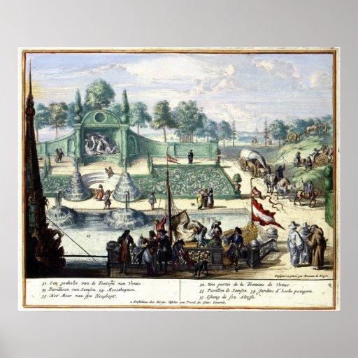 Tuinen van het genoegen van Enghien (1685) Brussel Poster