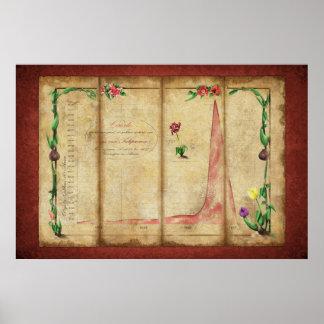 Tulipomania Graph (red) Poster