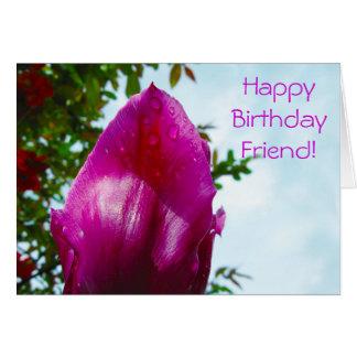 Tulp-dalingen, Gelukkige Verjaardag Kaart