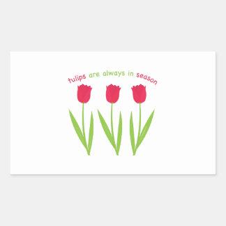 Tulpen in Seizoen Rechthoekvormige Sticker