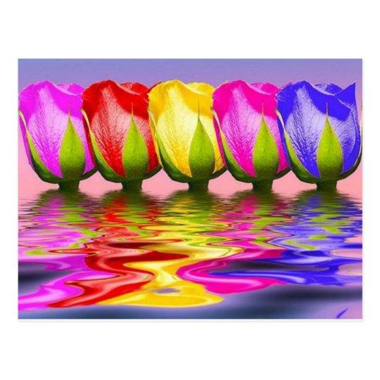 tulpen in water briefkaart