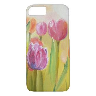 Tulpen olieverf kunst bloemen iPhone 8/7 hoesje