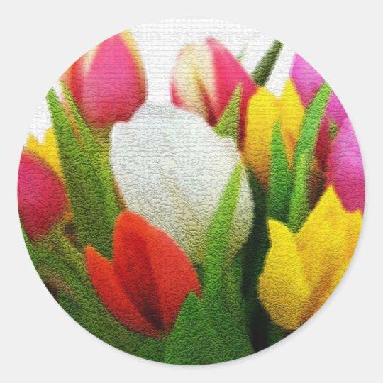 Tulpen uit Amsterdam Ronde Sticker