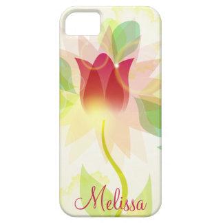 Tulpen van de Waterverf van Girly iPhone5 de Roze Barely There iPhone 5 Hoesje