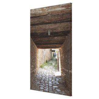 Tunnel door Steeg, Lahic Canvas Afdrukken