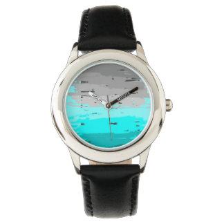 Turkoois aan Grijs Horloge