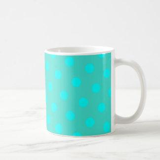 Turkoois en Stippen Aqua Koffiemok