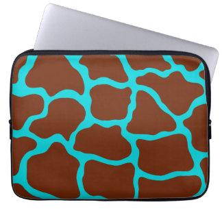 Turkoois Laptop van de Druk van de Giraf Sleeve