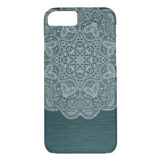 Turkooise Blauwe Ingewikkelde Mandala iPhone 7 iPhone 8/7 Hoesje