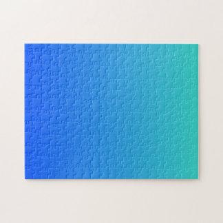 Turkooise Blauwe Ombre Legpuzzel