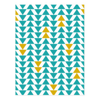 Turkooise en Gele Driehoeken Briefkaart