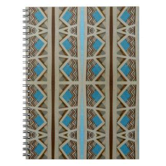 Turkooise grijze zuidwestelijke grens ringband notitieboeken