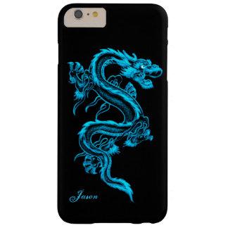 Turkooise iPhone 6 van de Douane van de Draak plus Barely There iPhone 6 Plus Hoesje