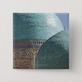 Turkooise koepels, Shahr i mausoleum Zindah Vierkante Button 5,1 Cm