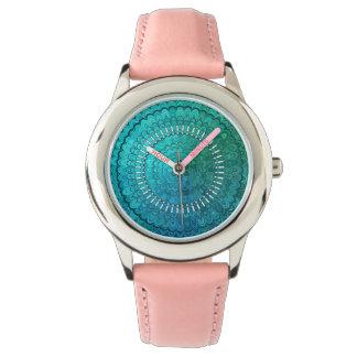Turkooise Mandala Horloge