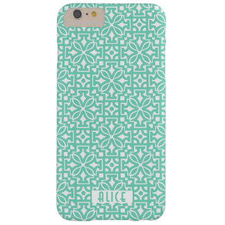 Turkooise ornamentiPhone 6/6s plus, nauwelijks Barely There iPhone 6 Plus Hoesje