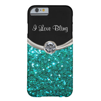 Turkooise Stijl Bling Barely There iPhone 6 Hoesje