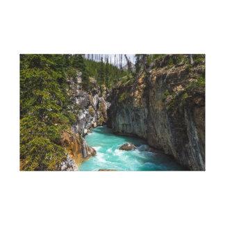 Turkooise wateren van Marmeren Canion Canvas Afdruk