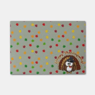 turkowl voor Thanksgiving - het stootkussen van Post-it® Notes