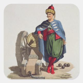Turkse Militair, van 'Kostuums van Diverse Vierkant Sticker