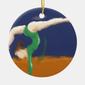 Turner op het Art. van de Evenwichtsbalk Rond Keramisch Ornament