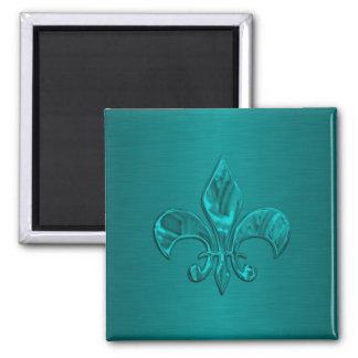 Turquoise Fleur DE Lis Magneet