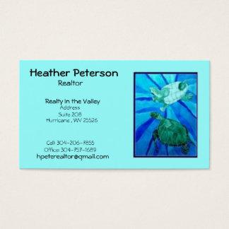 turtle2, Heide Peterson, Makelaar in onroerend Visitekaartjes