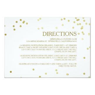 Tussenvoegsel van de Richtingen van het Huwelijk 8,9x12,7 Uitnodiging Kaart