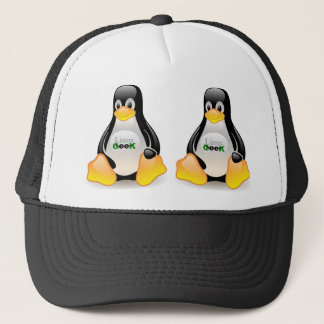 Tux Linux Geek Trucker Pet
