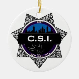 TV van CSI New York toont de Gift van het Ornament