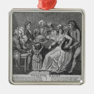 Twaalfde Nacht, 1794 Zilverkleurig Vierkant Ornament
