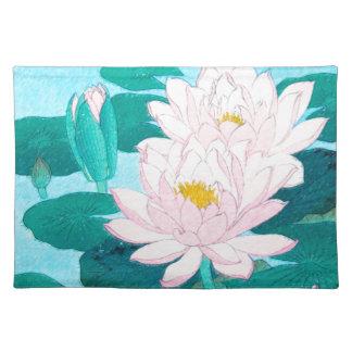Twee Bloemen van Lotus Placemat