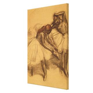 Twee Dansers Canvas Afdruk