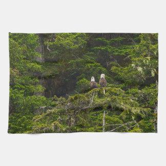Twee Eagles Neergestreken Painterly Theedoek