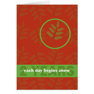 Twee Jaar Per dag bij een Nieuw Blad van de Briefkaarten 0
