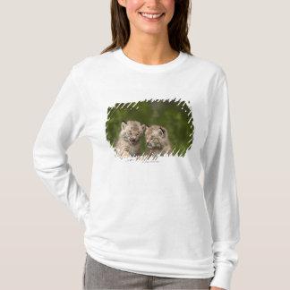 Twee Katjes die van de Lynx van Canada op een T Shirt
