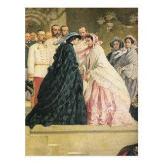 Twee keizerinnen ontmoeten SISSI CHARLOTTE 07 Wens Kaarten