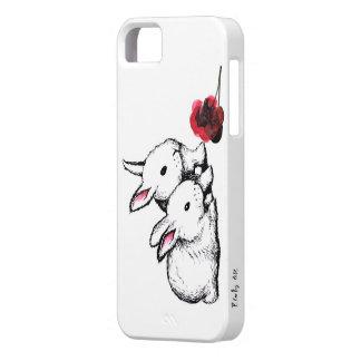Twee Kleine Witte Konijnen Barely There iPhone 5 Hoesje