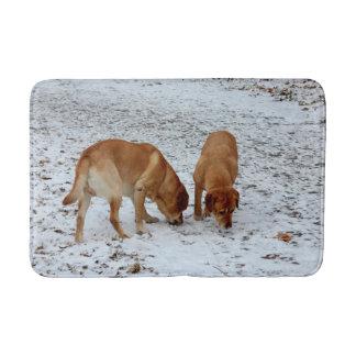 Twee Labradors Badmat
